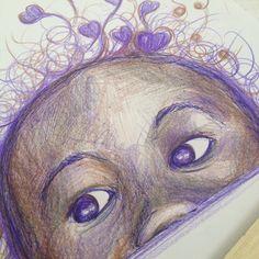 Schizzo su foglio ...penna e matita