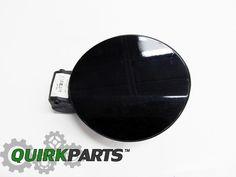 09-16 VW Volkswagen Tiguan Fuel Gas Door Cover Painted Deep Black Pearl LC9X #Volkswagen