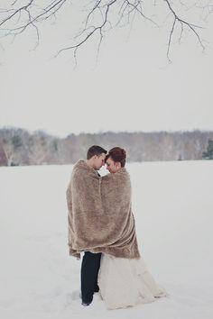 Via Vecchia Winery Winter Wedding  Read more - http://www.stylemepretty.com/2013/12/31/via-vecchia-winery-winter-wedding/