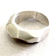 silver faceted ring  $140, #rings, #silver, #jewelry