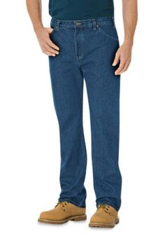 Dickies Blue  ular-Fit 6-Pocket Straight Leg Jeans
