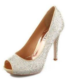 Vintage silver glitter heels/pumps/shoes