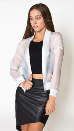 Elroy Sheer Bomber $89.00 http://willandwild.com/collections/new/products/elroy-sheer-bomber