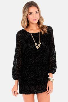 37fc4c9c18 Land of the Midnight Sun Black Velvet Shift Dress at Lulus.com! #lulus