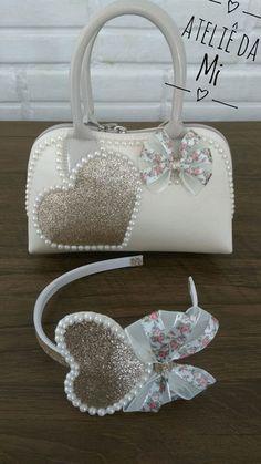 Handmade Purses, Handmade Handbags, Little Diva, Baby Jewelry, Diy Hair Bows, Patchwork Bags, Kawaii Fashion, Diy Hairstyles, Diy For Kids