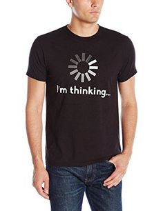 Hanes Mens Graphic TeeHumor Im Thinking Black Large ** Find out more about the great product at the image link-affiliate link