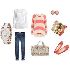 Coral Stripes and Cool Watch and Shoes-OK I'll take it all.  :) :) :)