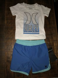 NWT Boys Childs Size Small Hurley Shirt Black And Blue #1