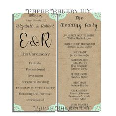 Printable Wedding Flat Invitation Reception RSVP Cards