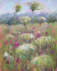 Pastel Techniques to Try...Dusting wildflowers, painting by artist Karen Margulis