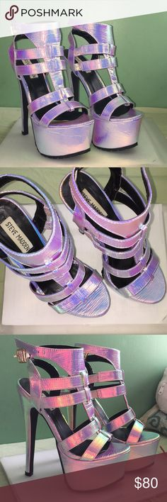 Steve Madden Heels Perfect condition. Only worn once. Steve Madden Shoes Heels