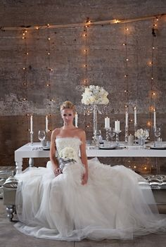 industrial warehouse turned romantic!