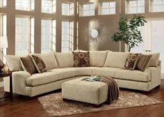 Picture Of Corner Constructed Sectional Sofa In Casual Living Room Style KSU 34756114