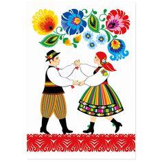 Kartka okolicznościowa + koperta | FOLK PARA ŁOWICKA – wycinanka łowicka - Folkstar.pl Folk Art Flowers, Flower Art, Folk Embroidery, Embroidery Stitches, Define Art, Polish Folk Art, Unique Roses, Scandinavian Folk Art, Beauty In Art