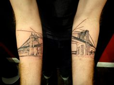 Brooklyn Bridge / 43 Rad Tattoos To Pay Tribute To Your Favorite Place (via BuzzFeed)
