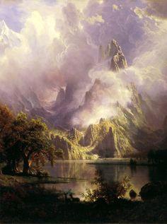 Albert Bierstadt - Rocky Mountain Landscape (1870).  slojnotak