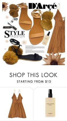 """""""D'ARÇÉ"""" by gaby-mil ❤ liked on Polyvore featuring Bobbi Brown Cosmetics, sandals, footwear and darcesandals"""