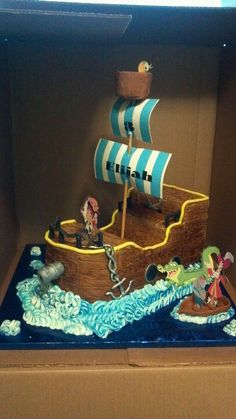 Jake and the neverland pirate cake