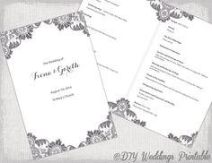 Free Catholic Wedding Program Template | Programming, Wedding and ...