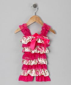 Take a look at this Rose Ruffle Romper - Infant & Toddler by Just For Girls on #zulily today!