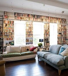 Bibliothèque à perte de vue