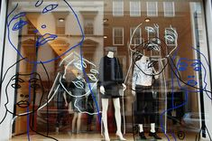"Stella McCartney, London, "" just give me an outline, Stella"", pinned by Ton van der Veer"