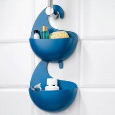 #design3000 Tolle Duschablagen ohne Bohren - Koziol Badutensilo mit Henkel Surf - geschwungene Dusch- und Badablage.
