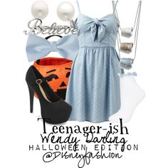 How To Dress Up for Halloween DIY Disney Style if You I like the whole thimble necklace for wendy. great idea!