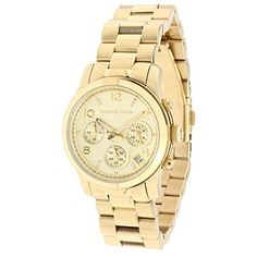 Michael Kors Runway Chronograph Stainless Steel Womens Watch - Jewelry For Her