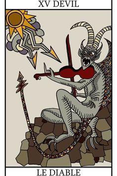 The Devil Tarot card.