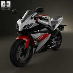 Yamaha YZF-R125 3d model from humster3d.com. Price: $75