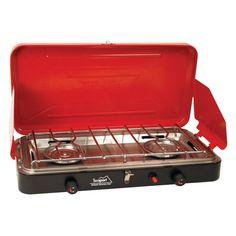 Texsport Super High Output Dual Burner Piezo Igniter Propane Stove - 14227