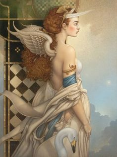 Painting by Michael Parkes.