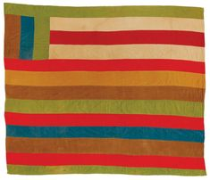 "Quilts of Gees Bend - Arcola Pettway, 1934-1994. ""Lazy Gal"" variation, 1976, corduroy, 81 x 89 inches."
