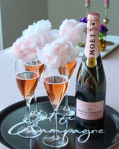 Champagne Birthday, Champagne Party, Hotel Birthday Parties, 50th Birthday Party, Champagne Moet, Moet Rose, Mini Dessert Cups, Disco Party Decorations, Sunset Party