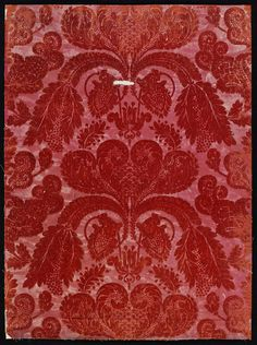 Red #damask #wallpaper, England, ca. 1830-1850   Victoria and Albert Museum