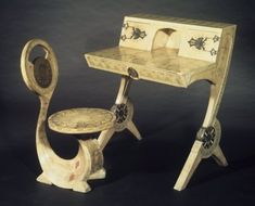 Cobra chair with vellum covered vanity
