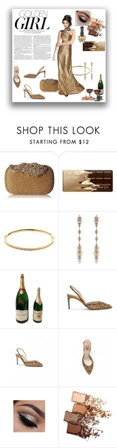 """Golden girl"" by colonae ❤ liked on Polyvore featuring Too Faced Cosmetics, Melissa Odabash, Fernando Jorge, Murphy, Maybelline and Anna Sui"