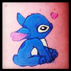 """Stitch from """"Lilo & stitch"""" Body painting Lilo And Stitch 3, Body Painting, Smurfs, Face, Character, Bodypainting, Body Paint, Faces, Lettering"""
