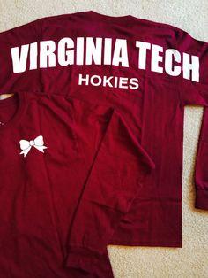 Virginia Tech Hokies Long Sleeved T-Shirt by StrongTeamFitness