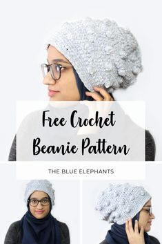 Crochet this gorgeous and easy beanie with velvet yarn! The Tempest beanie is cloudlike and so quick to make, perfect for gifts! All Free Crochet, Easy Crochet, Modern Crochet, Free Knitting, Crochet Beanie Pattern, Crochet Patterns, Crochet Ideas, Scarf Patterns, Crochet Gifts