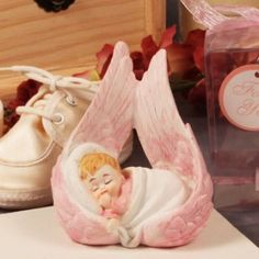 Wings of An Angel Pink Figurine Favors