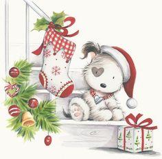 Rachel Baines - christmas puppy