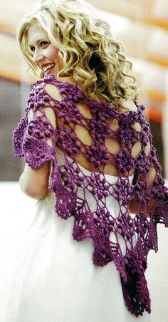 DIY Crochet Shawlette.