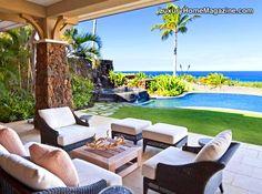 Luxury Home Magazine Hawaii #Luxury #Homes #Porch #Backyards #Pools #Tropical