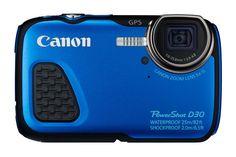 Canon PowerShot - Cámara Digital acuática MP (Sumergible hasta 25 m, Pantalla de Zoom óptico estabilizador Digital, vídeo Full HD, GPS), Azul