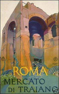 Vintage Roma Travel Poster
