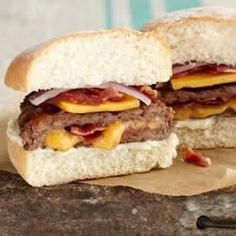 Cheesy Bacon-Stuffed Burgers Recipe on Yummly