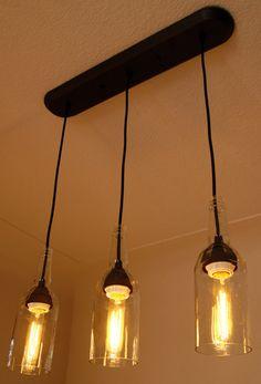 3 Light Pendant: Kentucky Gentleman Bourbon by DavesDoodads