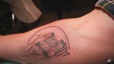 Me. Ben Brown mountain tattoo